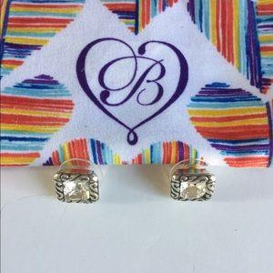 Brighton Sparkle Square Mini Post Earrings,